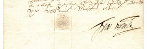 Signed Will of Sir Francis Drake 1588
