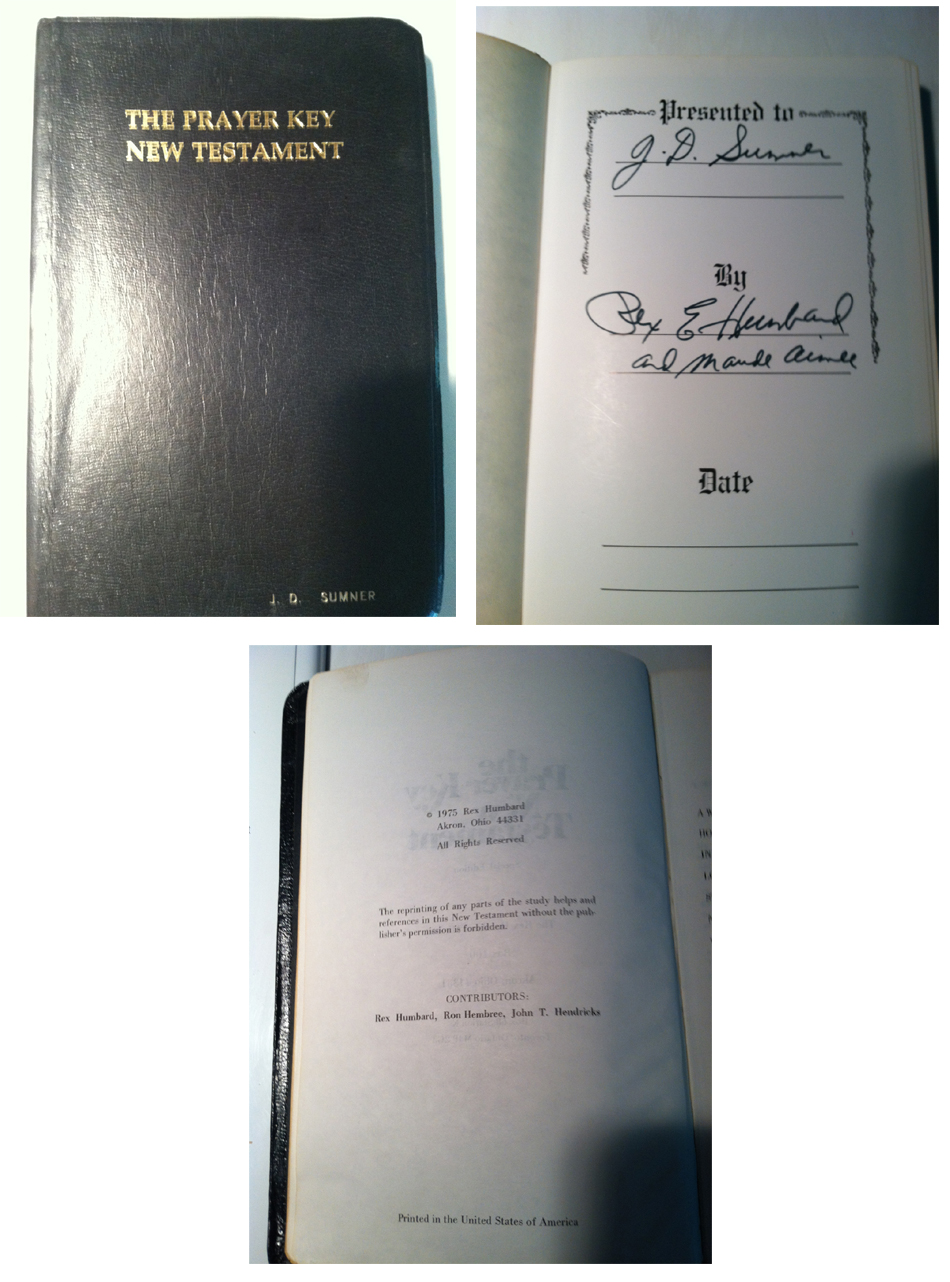 The Bible Used By Rex Humbard To Preside At Elvis S