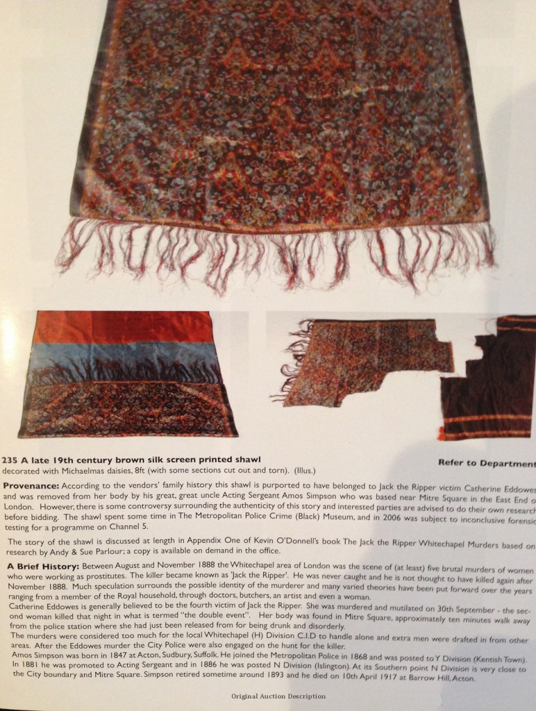 The Shawl measures 24 inches by 71 inches.