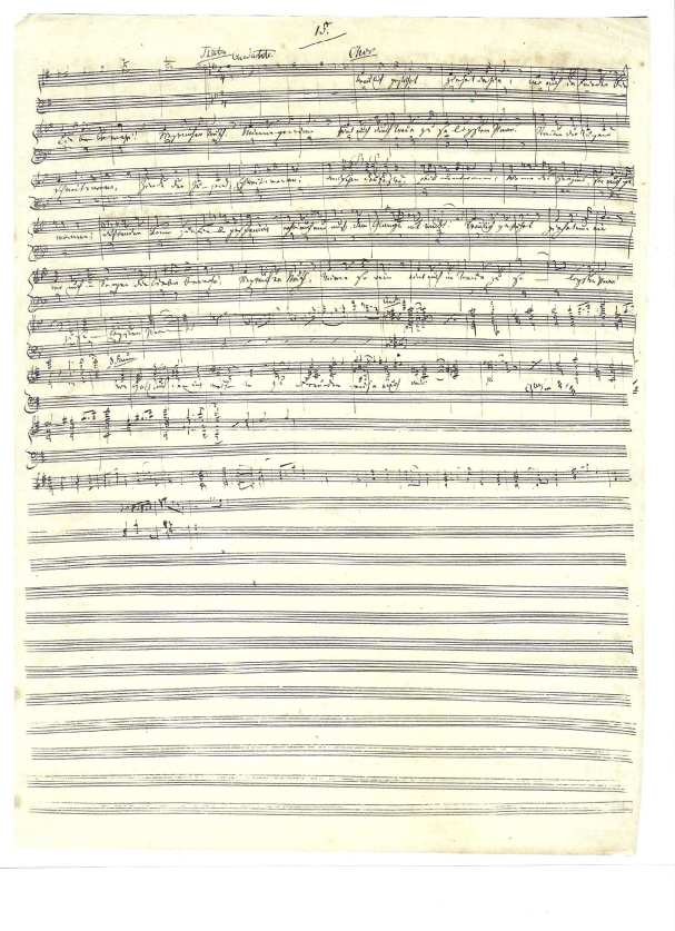 The Original Manuscript Of Richard Wagners Here Comes Bride