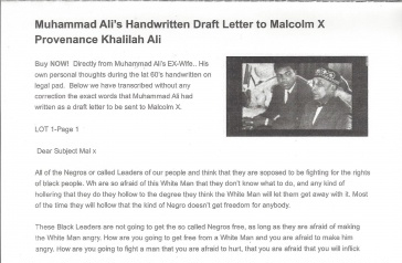 Unknown Draft Letter of Muhammad Ali to Malcolm X | Moments In Time